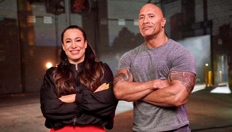 WWE The Rock Dwayne Johnson and Dany Garcia put muscle behind Athleticon