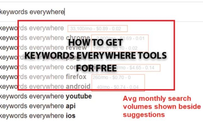 How to get Keywords everywhere tools for free?