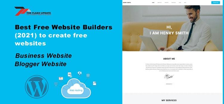 Best Free Website Builders (2021) to create free websites