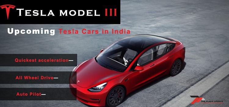 Tesla Model 3 upcoming in India