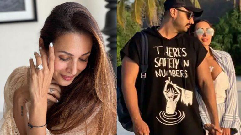 Malika's Diamond ring gave a hint of engagement with Arjun Kapoor