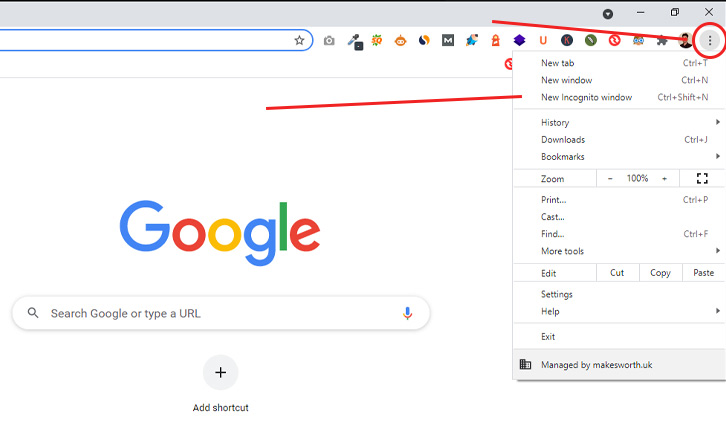 enable-encognito-window-in-chrome